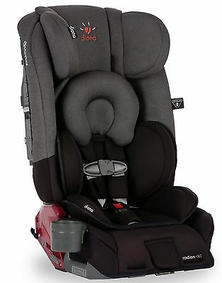 Diono Radian RXT Black Mist Convertible + Booster Folding Child Safety Car Seat