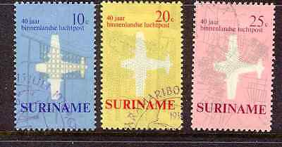 Suriname - 1970 - 40 years Internal Airmail set Fine Used 676/78