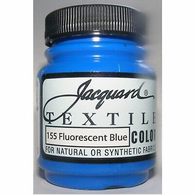 Jacquard Fluor Blue  Natural Or Synthetic Fabric Paint