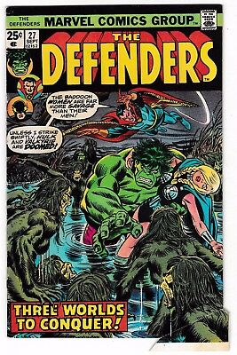 DEFENDERS #27 (FN-) 1st Appearance of STARHAWK! Guardians of the Galaxy! 1975