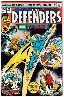 DEFENDERS #28 VG/FN 1st Full Appearance of STARHAWK 1975 Guardians of the Galaxy