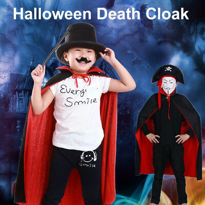 2sides Cloak Halloween Party Costumes Adult child  Death Reaper Demon Vampire GE