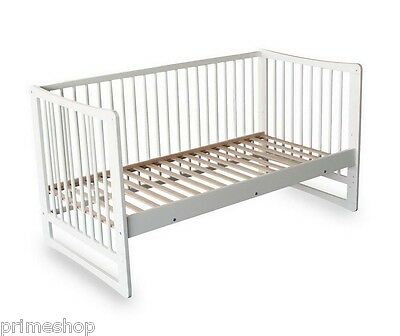 Kid's Bed Nicoletta in White Wooden incl. Slatted Frame 70 x 140 cm NEW O