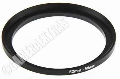 52mm to 58mm Lens STEP UP Stepping Ring Filter Adapter Converter Canon Nikon UK