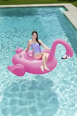 """Bestway Pink Inflatable Supersized Flamingo Rider Float Pool - 6.5' x 55"""""""