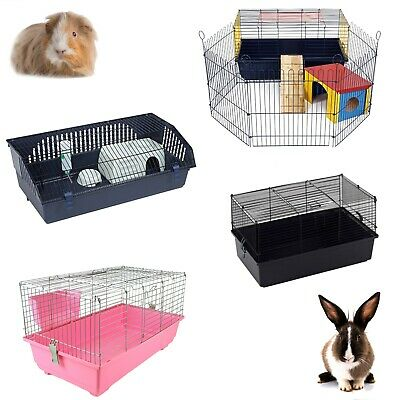 Little Friends Rabbit Guinea Pig Pet Indoor Cage Hutch 60cm 80cm 100cm 120cm