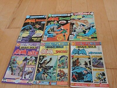6 OLD BRAVE AND THE BOLD COMIC BOOKS #115,116,117,131,134,139 Batman Sgt Rock+