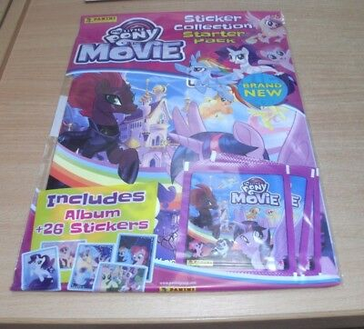 Panini My Little Pony The Movie Collection Album Starter Pack + 26 Stickers