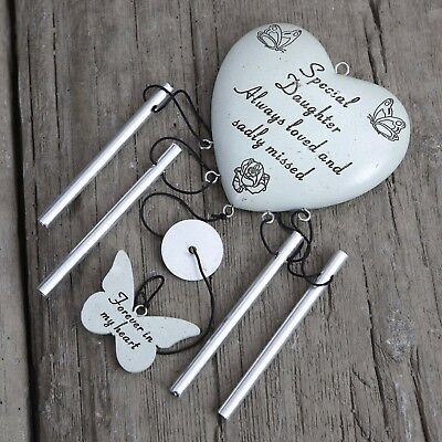 David Fischhoff Grave Memorial Heart Wind Chime Ornament Special Daughter 052