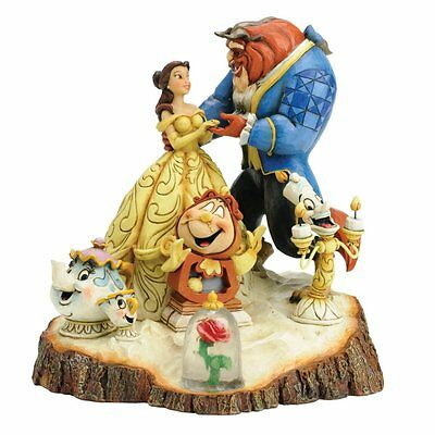Disney Traditions Carved By Heart Beauty And The Beast Figurine