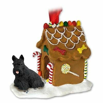 Scottish Terrier Scotty Dog Gingerbread House Christmas Holiday ORNAMENT