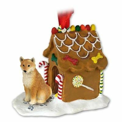 Shiba Inu Dog Ginger Bread House Christmas ORNAMENT