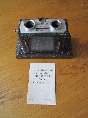 Bakelite, 3D Coronet camera, + 3-Dimension viewer & slides