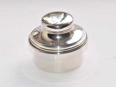 DELIGHTFUL VINTAGE CONTINENTAL ITALIAN SOLID SILVER ROUGE POT PILL BOX c1970