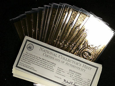 National Collector's Mint 2000 $2.00 (20) Gold Certificates and 3 Silver Certs