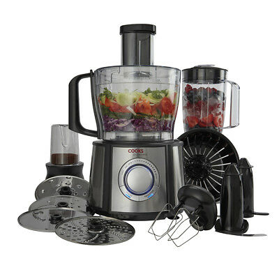 Cooks Professional 1100W Food Processor Multi Function Blender Mixer Juicer 2.4L