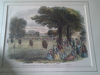 Worcestershire  Archery  Society. Antiquarian Print.
