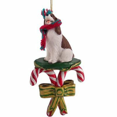 Springer Spaniel Liver Dog Candy Cane Christmas Tree ORNAMENT