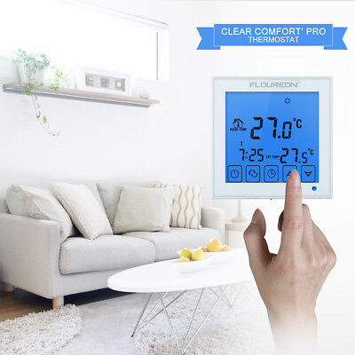 touch screen raumregler fu bodenheizung thermostat. Black Bedroom Furniture Sets. Home Design Ideas