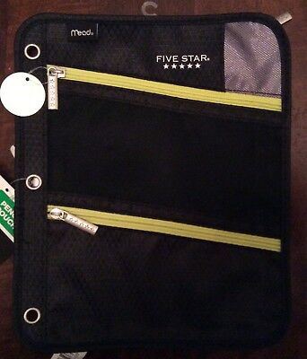 Mead Five Star Pencil Pouch, Black/yellow