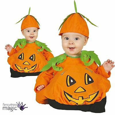 Baby Toddlers Cute Pumpkin Patch Boys Girls Halloween Fancy Dress Costume Outfit