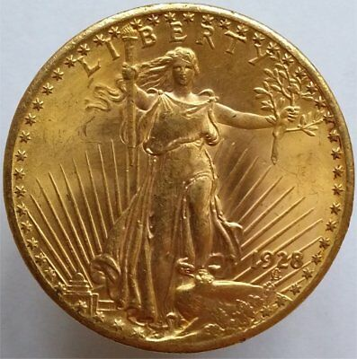 1928 Gold 20 Dollar Usa, Uncirculated Flawless Coin