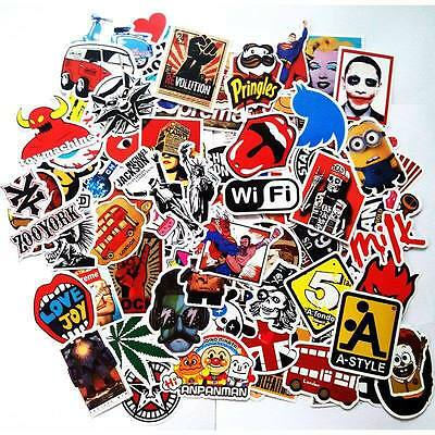 50PCS random vinyl decal graffiti bomb laptop waterproof stickers skate NEW HJ