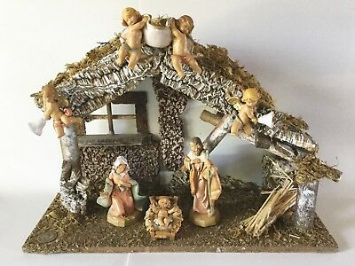 "Fontanini Wedding Stable NATIVITY Starter Set 5"" Scale 54562 Cherubs 1991 Italy"