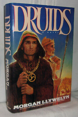 Morgan Llywelyn DRUIDS First edition! Ancient Ireland Celtic Historical Fiction