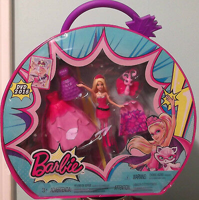 Barbie Princess Power Figurine 6-Pc Set With Carrying Case - New!