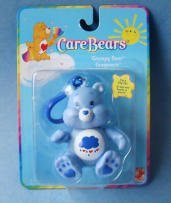 Care Bear Grumpy Clip On - Perfect For Purse or Backpack - In Package - 2002
