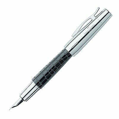 Faber Castell E-Motion Fountain Pen Resin Croco Black Extra Fine Point 148232