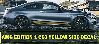AMG Edition C63 Edition 1 Side Yellow Decals Stickers Mercedes Benz C Class W205