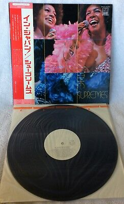 """The Supremes """"in Japan"""" Ultra-Rare Original Japanese 1St Issue Wlp Promo W/obi!!"""