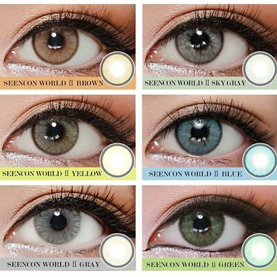 HOT Lady Women Cosmetic Contact Lenses Circle Big Eyes Makeup Beauty Yearly Use