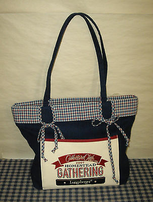 "2007 Longaberger Homestead Gathering Collectors Club BIG Tote Purse 16"" x 12"""