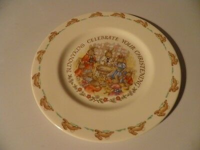 Royal doulton Bunnykins to celebrate your christening 8 inch plate
