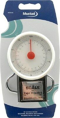 Mustad Mechanical Spring Fishing Scale 50Lb-22Kg + Measuring Tape Mstd-52A