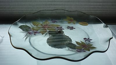 70s retro style Chance glass comport/cake stand.