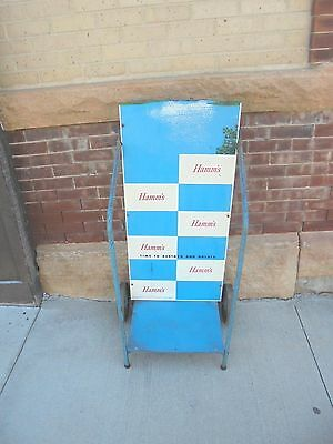 vintage 2 wheeled store display cart hamms beer time to restock rough top