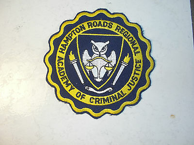 Hampton Roads Regional Academy Of Criminal Justice Colectable Patch