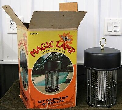 Vintage Gerett Magic Lamp Electronic Bug Killer Zapper Get The Bugs Out OF Life