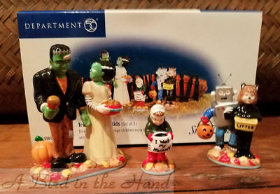 Dept 56 TREATS FOR THE KIDS, St/3, Halloween, New in Box, #56.55016