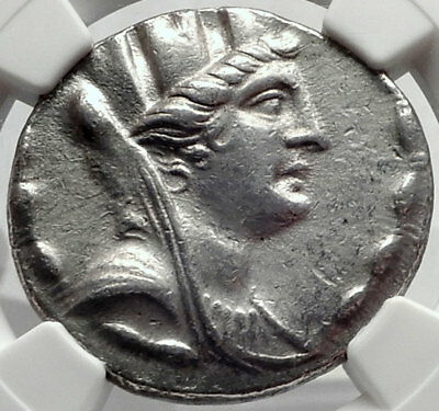 SELEUKEIA PIERIA 98BC Authentic Ancient Silver Greek TETRADRACHM Coin NGC i64490