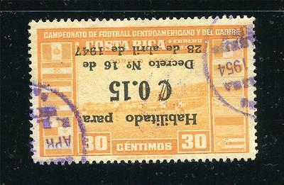 Costa Rica 1947 Inverted Overprint on Football Only 300 issued SC C146 U cr894