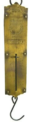 Vtg Hanging Brass Scale Fishing Equipment Chatillons Spring Balance # 2499  Ny