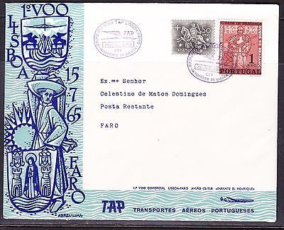Portugal 1965 TAP Airways Lisbon to Faro Flight Cover