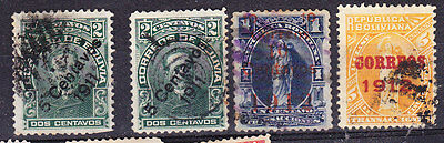 Bolivia 1912 Surcharges - Used