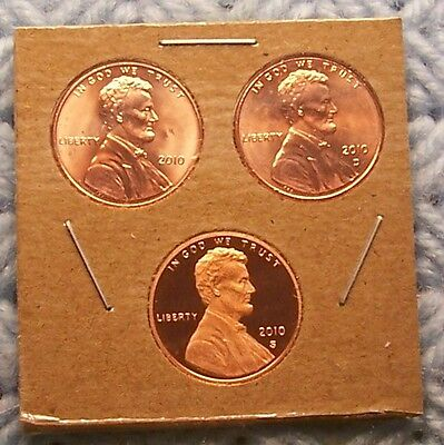 2010 P/d/s Lincoln - Shield Type Cent Set