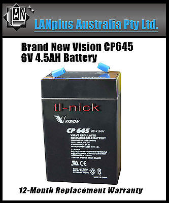 New Vision 6V 4.5AH CP645 SLA Rechargeable Battery High Rate Toy Electric >4.0Ah